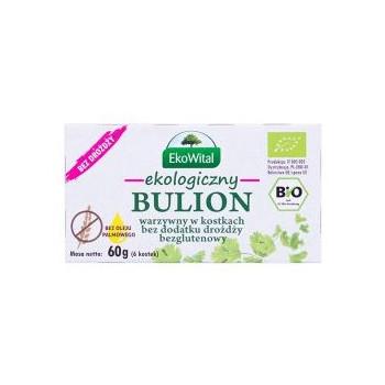 Bulion warzywny w kostkach bez drożdży, bez oleju palmowego BEZGL. BIO 60 g