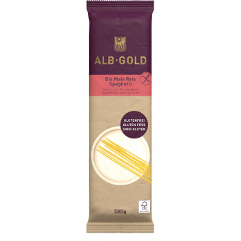 MAKARON (KUKURYDZIANO - RYŻOWY) SPAGHETTI BEZGLUTENOWY BIO 500 g - ALB GOLD