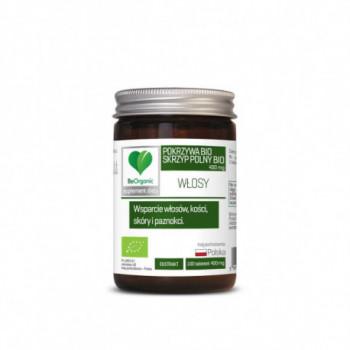 SKRZYP + POKRZYWA EKSTRAKT BIO 100 TABLETEK (400 mg) - BE ORGANIC