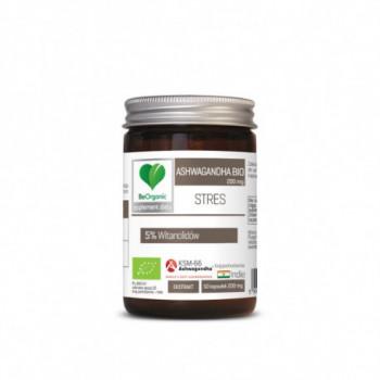 ASHWAGANDHA EKSTRAKT BIO 50 KAPSUŁEK (200 mg) - BE ORGANIC