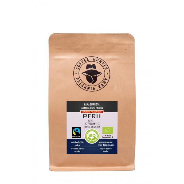 KAWA ZIARNISTA ARABICA 100 % PERU FAIR TRADE BIO 250 g - COFFEE HUNTER