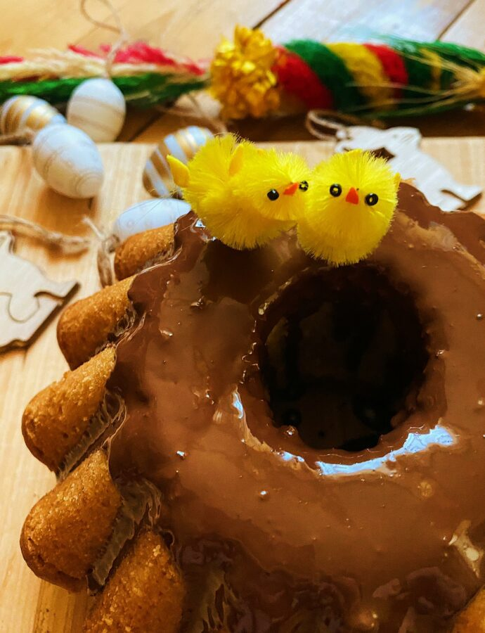 Wielkanocna wegańska babka cytrynowa